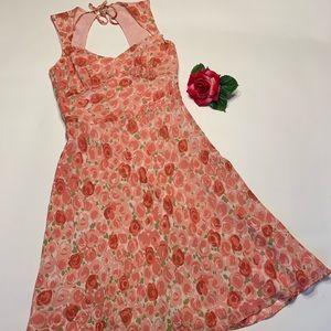 Ann Taylor Loft Womens Sz 2 100% Silk Floral Dress